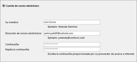 Configuración de Outlook