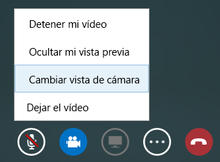 Captura de pantalla de cambiar vídeo