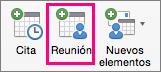La opción Reunión se resalta en la pestaña Inicio.