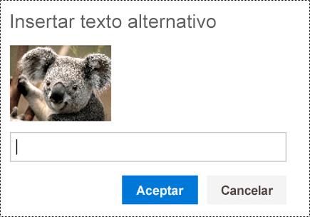 Agregar texto alternativo a imágenes en Outlook en la Web.