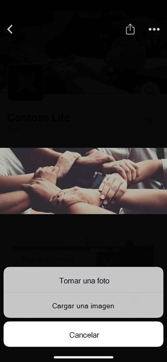 Cargar una foto móvil a su comunidad de Yammer
