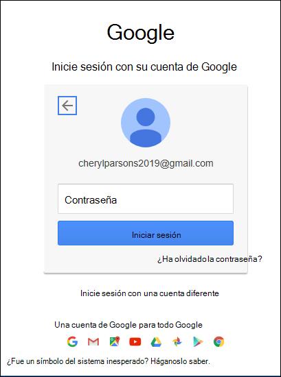 Escriba su contraseña de gmail.