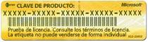 Etiqueta típica de clave del producto de Office para Mac2011 con disco