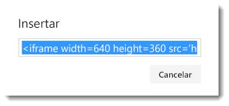 Código para insertar un vídeo de Office 365
