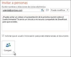 Compartir una presentación en SharePoint
