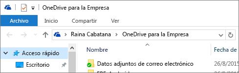 Cliente de escritorio antiguo de OneDrive para la Empresa