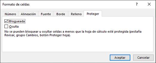 Proteger una hoja de cálculo - Excel