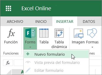 Formularios > Nuevo formulario