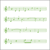 Instrumentos de música y notas