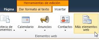 Haga clic en Más elementos web