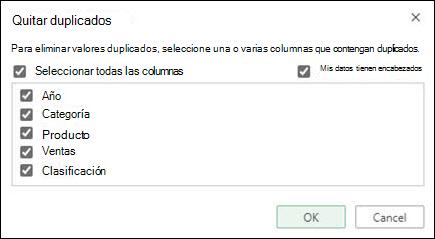 Quite los duplicados de Excel online de las herramientas de datos > datos > quitar duplicados.