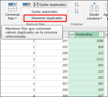 Power Query: mantener duplicados