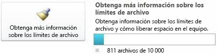 Contador de documentos de SharePoint Workspace con menos de 7.500 documentos
