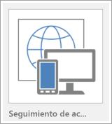 Botón de plantilla de aplicación web de Access