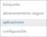 Haga clic en Aplicaciones a la izquierda.