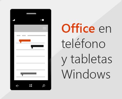 Aplicaciones de Office mobile en Windows Phone