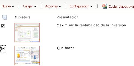 Biblioteca de diapositivas de ejemplo