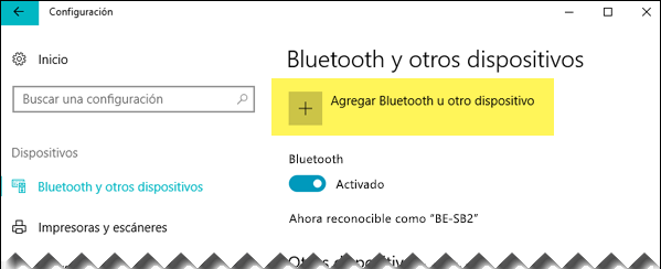 Agregar un dispositivo Bluetooth