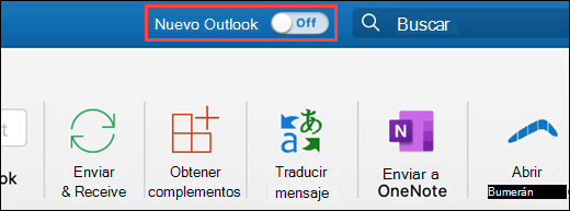 Captura de pantalla con el nuevo modificador de Outlook para Mac