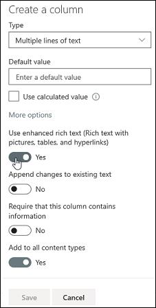 Usar texto enriquecido mejorado