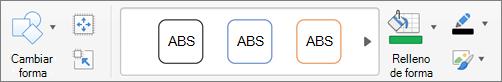 Haga clic en cambiar forma.