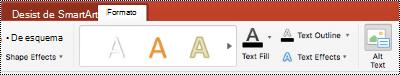 Botón texto alternativo para un SmartArt en la cinta de PowerPoint para Mac