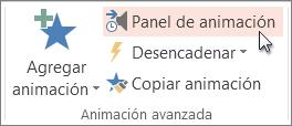 Visualizar el panel de animación