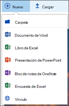 Crear una nueva carpeta de Office 365 o un documento