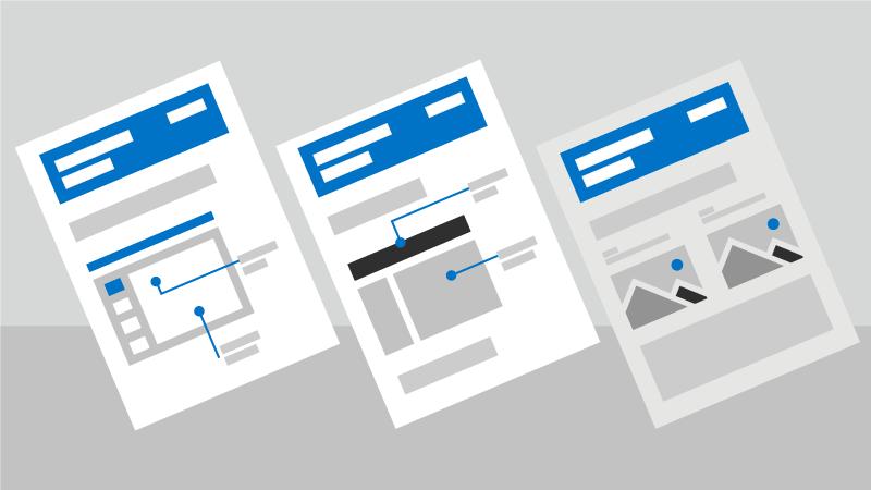 Imagen conceptual de hojas de referencia