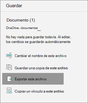 Exportar este archivo