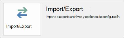 Seleccione Importar o exportar.