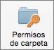 Botón Permisos de carpeta en Outlook 2016 para Mac