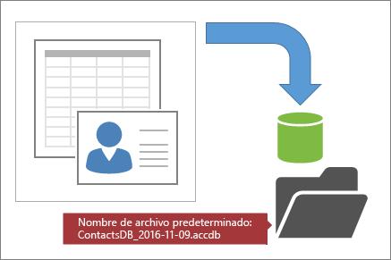 Crear una copia de seguridad de una base de datos de Access