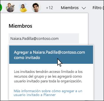 Captura de pantalla: muestra el mensaje que le pregunta si desea agregar usuario de invitado.