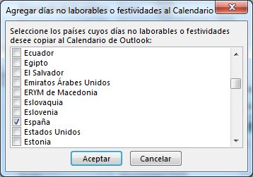 Agregar Días Festivos A Su Calendario De Outlook Para Windows Outlook