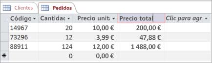 Proporcionar nombre a un campo en una tabla de Access