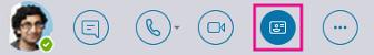Botón Tarjeta de contacto rápido