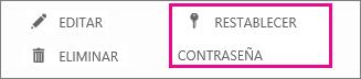 Restablezca las contraseñas de varios usuarios.