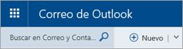 Barra de menús de Correo de Outlook