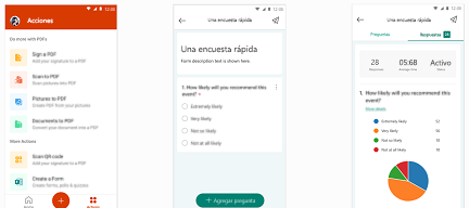 Formularios en la aplicación móvil de Office