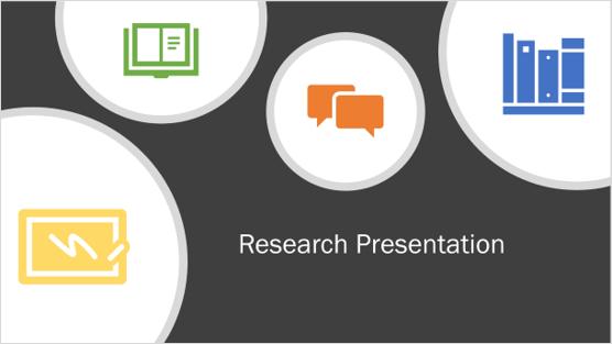 Imagen de una plantilla de presentación de investigación
