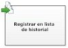 Registrar en lista de historial