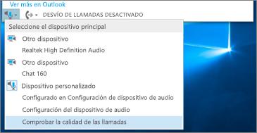 Comprobar la calidad de la llamada para dispositivo personalizado