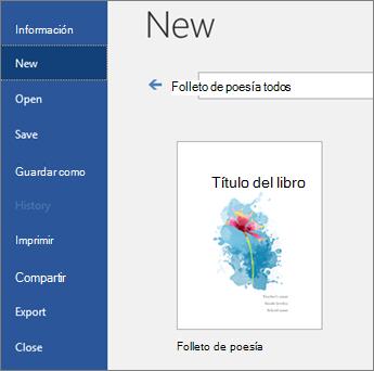 """Plantillas de búsqueda para """"folleto Poetry"""""""
