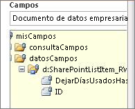 Lista Seleccionar campos de datos