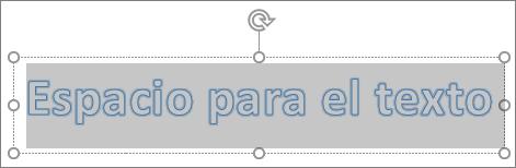 Texto de marcador de posición de WordArt