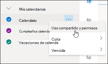 Aplicacion Calendario Compartido.Compartir Su Calendario En Outlook En La Web Outlook