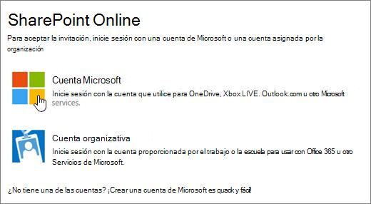 Una captura de pantalla donde se muestra la pantalla de inicio de sesión de SharePoint Online.