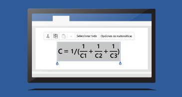 Ecuación en un documento