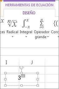 Especificación de valores en el cuadro de formato de superíndice